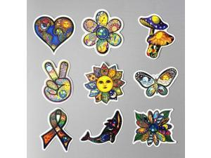 25pcs/set World Peace Personalized Color Waterproof Car Stickers Art Style Luggage Stickers Laptop Decals (Multicolor)