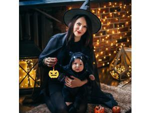 12pcs Halloween Pumpkin Bat Cat Hanging Decor Adorable Ghost Hanging Ornament for Home Party (Assorted Color)