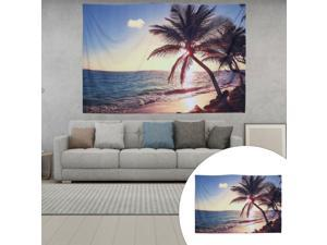 1PC Nordic Bedroom Decorative Cloth Gloaming Beach Hanging Curtain Tapestry