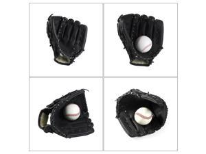 10.5-inch Softball Thicken Baseball Hand Glove for Outdoor Team Sports (Black S)