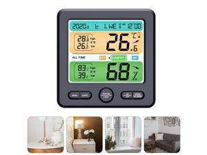1pc Practical Durable Convenient Multipurpose Home Hygrothermograph Thermometer Clock Hygrometer Clock