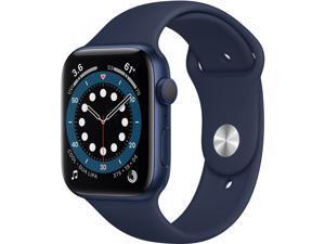 Apple Watch Series 6 GPS 44mm Blue Aluminum, Deep Navy Sport Band M00J3LL/A