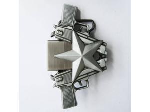 New Vintage Guns Star Lighter Belt Buckle