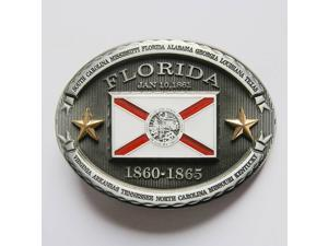 New Vintage Florida Western Oval State Flag Belt Buckle