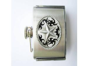 Western Star 3oz Stainless Steel Flask Belt Buckle