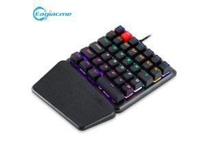 K106 Mechanical Gaming One-Hand Keyboard For Mobile With Colorful Backlight MX Blue Switch For PC/Laptop Drop-shipping