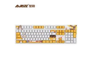 AK-MRR Mechanical Gaming Keybaord With PBT Dye-sublimation Keycaps USB Wired Gamer Keyboard Cherry Orignial MX Switch Keyboard