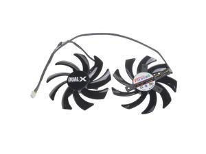 2Pcs/set 85mm FD7010H12S 40mm Holes Pitch Graphics Video Fan For Sapphire HD 7790 7850 7870 7950 R9 280 290 270X Card Cooling
