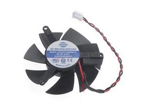 0.05A 2PIN Diameter 45MM DF0501012SEE2C Video Card VGA Cooler Fan For Sapphire HD6450 Graphics Replacement