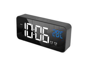 Ochine LED Digital Alarm Clock, Dual Alarm, 4 Brightness&13 Ringtones, 12/24H, Bedside Clock With Built-in Sound Senor, Temperature, Snooze, Portable Clock For Bedroom, Home And Travel 5.8'