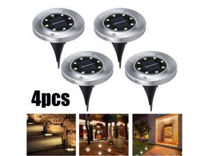 8 LED Solar Powered Outdoor Lawn Lamps Waterproof Garden Landscape Lights for Yard Patio Lawn Path (4pcs)