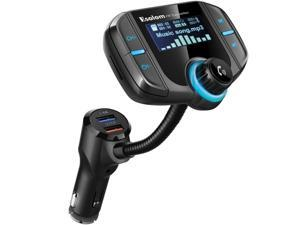 Bluetooth Car Kit Handsfree Set FM Transmitter MP3 Music Player 5V 2.4A USB Car Charger Support 1.65'' MP3 Player Support Siri