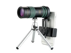 8-24X30mm HD Zoom Super Telephoto Monocular Telescope W/ Tripod & Clip Kit