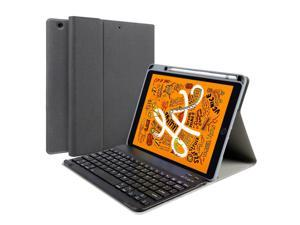 Ochine Keyboard Case for New iPad 8th Gen (2020) / 7th Generation (2019) 10.2 Inch, Soft TPU Back Stand Cover with Pencil Holder, Magnetically Detachable Wireless Bluetooth Keyboard