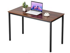 """Computer Desk 47"""" Study Writing Table for Home Office, Modern Simple Style PC Desk Black Metal Frame (47.0L * 23.6W * 29.5H inch)"""