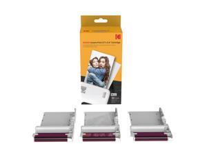 "60 Pack of KODAK Mini 2 and Mini Shot 2 Series 2.1""x3.4"" Cartridge, All-in-One Paper and Color Ribbon Cartridge Refill - Compatible with Mini 2 and Mini Shot 2 Series"