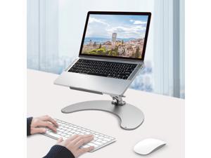 IBAMA Height Adjustable Laptop Stand Ergonomic Foldable Cooling Holder Computer Tablet Anti-Slip Pads Aluminum Support Base Portable Laptop Riser