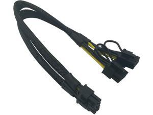 8 Pin Male to Dual 8 Pin(6+2) Male PCIe Power Adapter Cable for Dell T3600 T3610 T5600 T5610 T5610 T7600 T7610 5810 T5810 T7810 13-inch(34cm) d and two 8 pin(6+2)