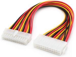 ATX 24 Pin Motherboard Power Supply Extension Cable, 12 inch  (2PCS)