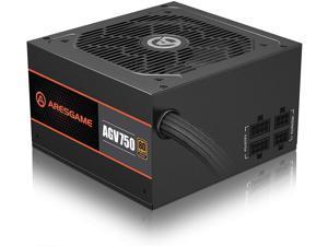ARESGAME 750W Power Supply Semi Modular 80+ Bronze PSU (AGV750)
