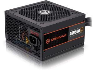 ARESGAME Power Supply 500W 80+ Bronze Certified PSU (AGV500)