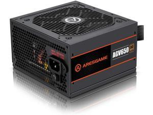 ARESGAME Power Supply 650W 80+ Bronze Certified PSU (AGV650)