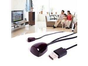 USB Adapter Infrared IR Remote Extender Repeater Receiver Transmitter Black 5V