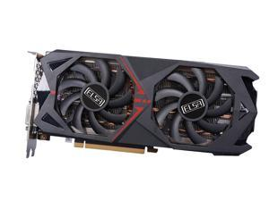 ELSA GeForce RTX 2060 Super Video Card, Graphics Card Equipped With Turing TU106-410 Core, 12nm Process, 8GB 256-Bit GDDR6 Memory, Dual Fans, 8pin Power Supply Interface, DIV+DP+HDMI Interface