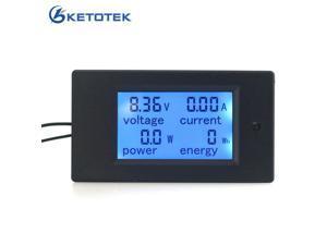 DC 6.5~100V 0~20A Digital LCD Volt AMP Voltmeter Ammeter power energy meter module shows V A W Wh