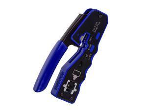 DP-iot RJ45 Crimp Tool Pass Through Cutter for Cat6 Cat5 Cat5E 8P8C Modular Connectors All-In-One Wire Tool
