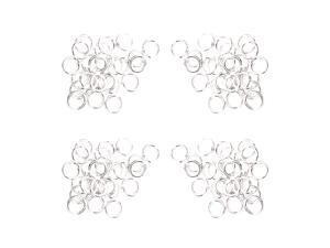 180PCS Multi-purpose Metal Round Ring for Hardware Bags Ring DIY Accessories - 12MM (Silver)
