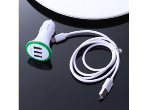 5V 3.1A Car Charger Three USB Quick Charge Fast Car Charger Adapter Travel Car Cigarette lighter for iPhone X/ 8/ 7/ 6S/ Samsung Galaxy S9 S8/ LG/ Nexus/ HTC/ LG/ Xiaomi/ Pixel 2/ Sony Xperia X/