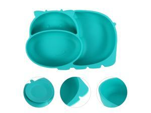 1Pc Silicone One-piece Plate Baby Dinner Plate Child Compartment Dinner Plate