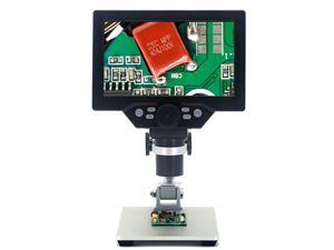 7 inch LCD USB 12MP 1-1200X Digital Microscope Electronic  Continuous Amplification Magnifier Rechargeable Battery for Circuit Board Repair Soldering PCB Coins jewelry