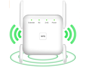 WiFi booster, 1200Mbps WiFi Extenders Signal Amplifier for Home, 360° Full Coverage WiFi Booster, 2.4G 5G Dual Band WiFi Repeater WPS One Key Setup,WiFi Booster and Signal Amplifier( small zise/white)