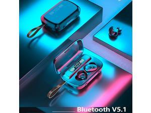 True Wireless Earbuds Bluetooth 5.0 Headphones, IPX7 Waterproof Earphones, HD indicator for battery capacity, integrated with clock and flashight,110H Playtime w/ 3300mAh Charging Case