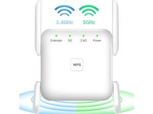 WiFi Extender, Covers Up to 2152 Sq.ft and 20 Devices, Up to 1200Mbps Dual Band WiFi Range Extender, WiFi Booster to Extend Range of WiFi Internet Connection