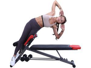 Finer Form Multi-Functional Weight Bench for Full All-in-One Body Workout – Hyper Back Extension, Roman Chair, Adjustable Ab Sit up Bench, Decline Bench, Flat Bench