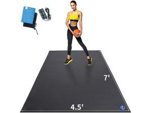 Extra Large Exercise Mat for Home Workout 84 x 54 inch, Shoe-Friendly, Non-Slip, Thick Gym Flooring Mats for All Intense Fitness - Ultra Durable, Eco Friendly