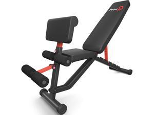 pelpo Weight Bench for Full Body Workout, Adjustable Strength Training Bench Press in Home Gym, Fast Folding Roman Chair Holds up to 330LBS