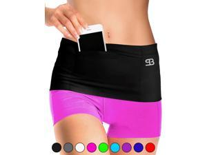 Stashbandz Unisex Running Belt Waist Pack, Insulin Pump Belt, Travel Money Belt, Fanny Pack and, Secure Items with 3 Large Security Pockets Plus One Zippered Pouch, Fits Phones Passport and More