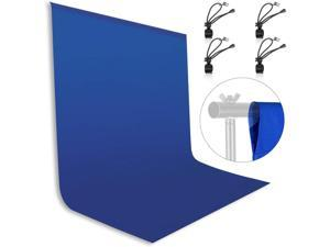 Emart 6 x 9 ft Photography Blue Background, Blue Chromakey Muslin Background Screen for Photo Video Studio, 4 x Backdrop Clip
