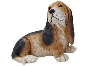 Design Toscano Black and Brown Basset Puppy Dog Statue, Multicolored