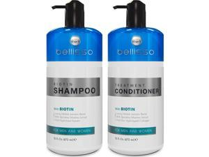 Biotin Shampoo and Conditioner Set for Hair Growth | Thickening anti Hair Loss Shampoo Treatment | Regrowth Shampoo & Conditioner for Dry Normal Oily & Color Treated Hair
