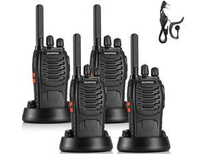 BAOFENG BF-88ST FRS Radio Two Way Radio Long Range, Upgrade Version of BF-888S, License-Free Walkie Talkie VOX USB Charging LED Flashlight, with Earpiece, 4 PCS