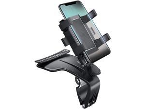 Car Cell Phone Mount Dashboard Cell Phone Clip Automobile Cradles Car Holder Mount Stand Suitable for 3 to 7 inch Smartphones (Upgrade)