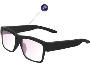 Camera Glasses 1080P HD Video Recording Camera Shooting Camera Glasses Portable Wearable Eye Glasses for Driving Hiking Fishing(Including 32G Card)