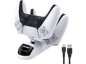 PS5 Controller Charger Dual Charging Ports PS5 Charging Station ,Controller Type-C Fast Dual Charging Station Dock with LED Indicator for Sony Playstation 5 with Dual Detachable USB C Ports