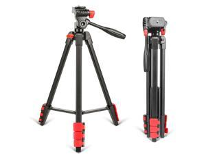 Cell Phone Tripods Extendable Aluminum Portable Tripod Stand with Bluetooth Remote Shutter and Phone Clip