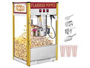 ZOKOP ZPM-B 850W 120V-60HZ 8oz Retro Single Door Popcorn Machine Countertop / Countertop Half Machine Black
